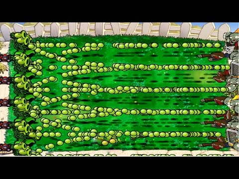 Plants vs Zombies Hack 100% 699 Threepeater vs Zomboss