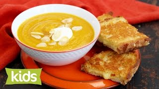 Easy Pumpkin Soup Recipe With Pan Cheese Toasties