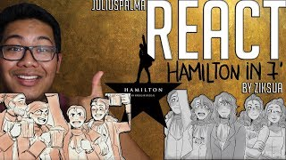 JULIUS REACTS: Hamilton in 7 Minutes - Animatic (Ziksua)