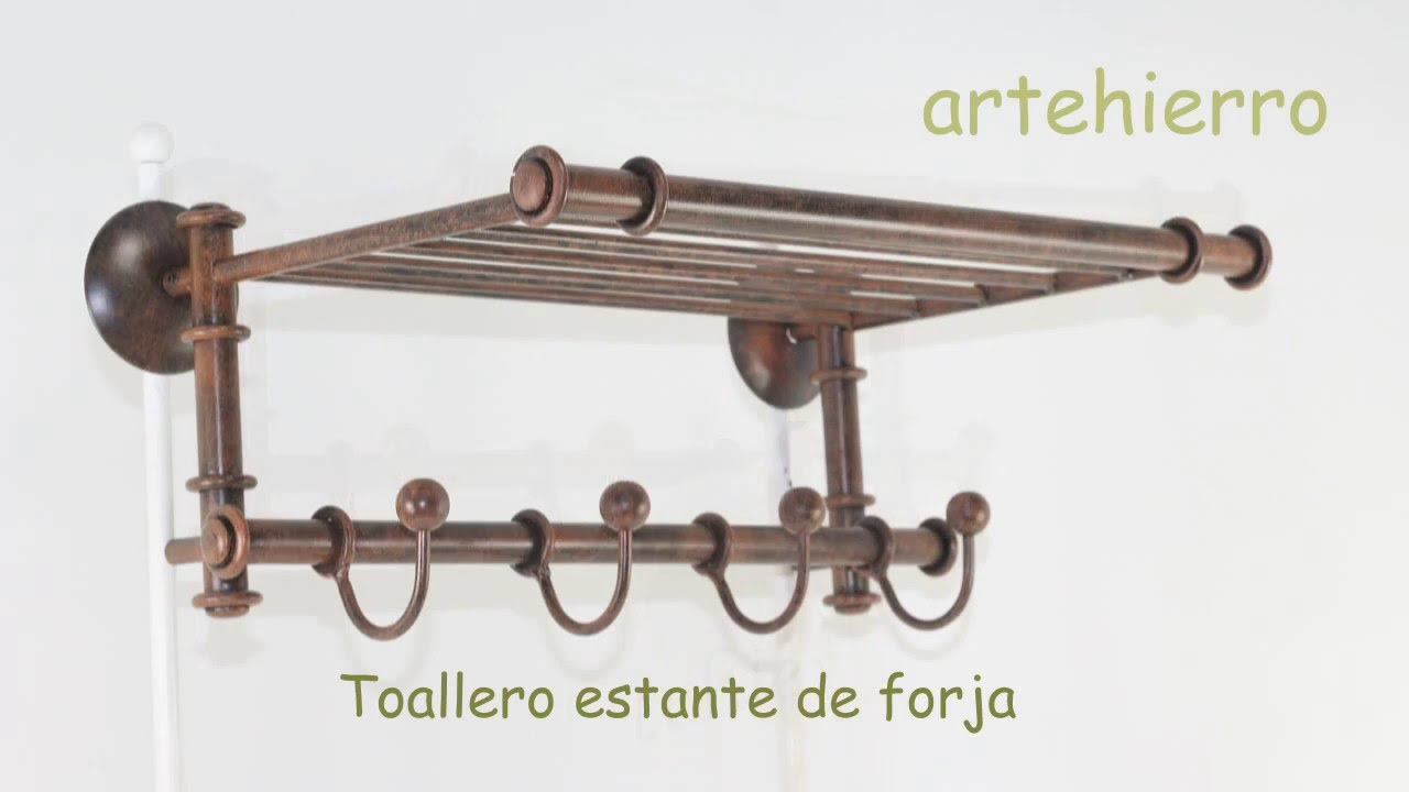 Toallero con estante ba os rusticos con estilo propio for Estante porta toallas para bano
