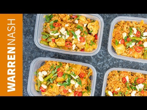Vegetarian Meal Prep Biryani - UK foods, great if on a BUDGET - Recipes by Warren Nash