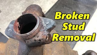 Broken Stud Removal in Exhaust Manifold