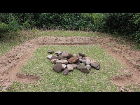 Primitive Technology: Stone House Part 01