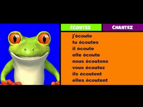 Comptine Conjugaison Couter Youtube