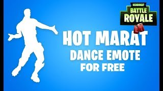 KOSTENLOSER EMOTE HOT MARAT IM FORTNITE SHOP FREE EMOTE
