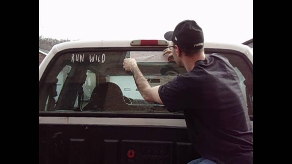 Confederate Flag Run Wild Vinyl Window Decal Application YouTube - Vinyl window decals for trucks