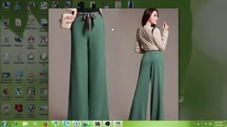 How to Make Ladies Palazzo Pant with belt Cutting and Stitching part 1 of 8