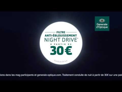 Night Drive - la dernière innovation Générale d Optique pour la conduite de  nuit 8380f1569586