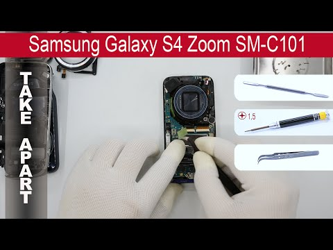 How to disassemble  Samsung Galaxy S4 Zoom SM C101, Take Apart, Tutorial