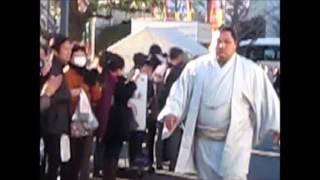 松鳳山 幕内力士場所入り 大相撲平成28年初場所 2016/1/20 Sumo Shohoza...