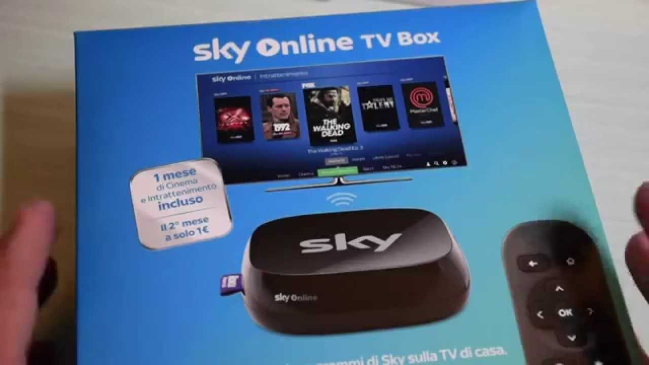 Sky Online TV Box: unboxing, collegamento e prime impressioni - YouTube