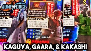 NEW JUMP FORCE Kakashi, Gaara & Kaguya Characters Scan & Boruto HD Screenshots & Scan!