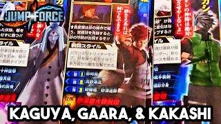 NEW JUMP FORCE Kakashi, Gaara & Kaguya Characters Scan & Boruto HD Screenshots & Scan!