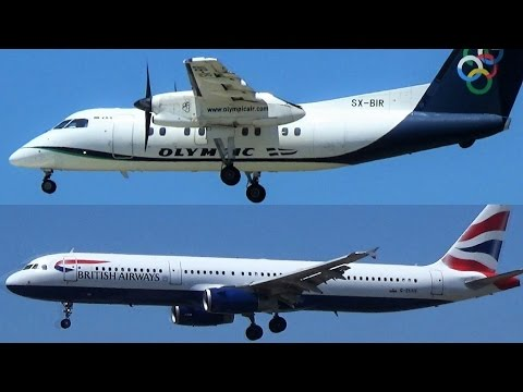 100 minutes of Planespotting at Rhodes - RHO Takeoffs/Windy Landings/Close views -RHO Airport Action