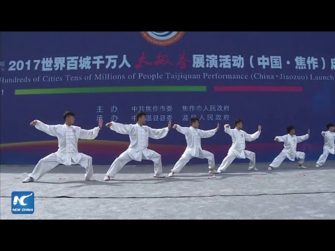 LIVE: Largest ever Tai Chi performance in Henan, China