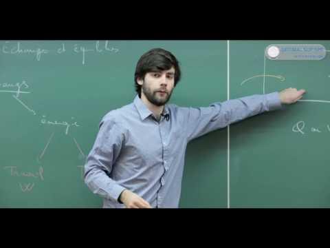 Thermodynamique cours complet (1/2). Le premier principe.