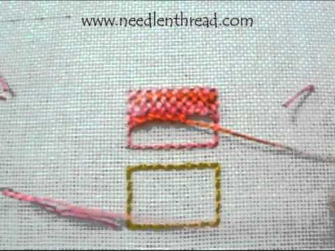 Trellis Stitch For Hand Embroidery - YouTube