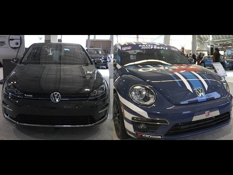 2016 e Golf SEL Premium and Volkswagen Beetle GRC - New England International Auto Show 2016