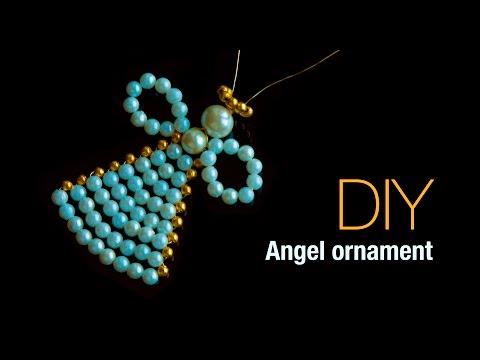 DIY christmas angel ornaments 2019  Holiday room decor   ANGELITOS NAVIDEÑOS  Beads art