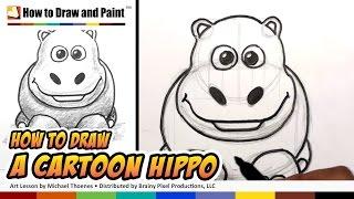 How to Draw A Cartoon Hippo   MAT
