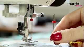 Швейная машинка. Видео урок 8 от Burda: защипы двойной иглой