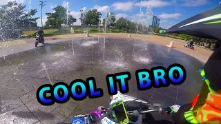 SUBIE MOTO'S BDAY RIDE Part 2 | WATER FOUNTAIN | STAIRS