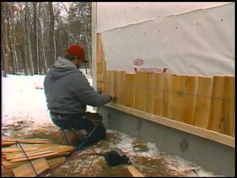 Applying Cedar Shingles Youtube