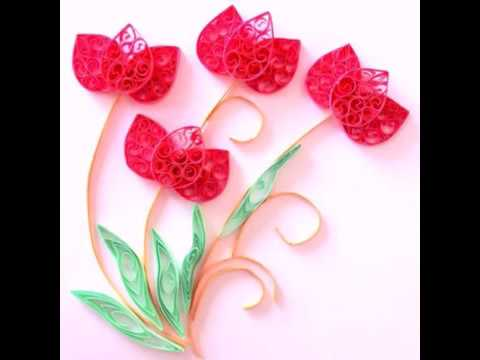How To Make A Lotus Flower Using Quilling Craft Youtube