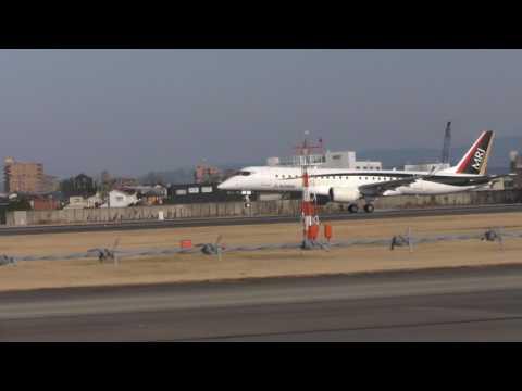 MRJ 3号機 日本海でテスト飛行し戻って来た!! 2017 01 19