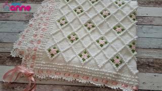 Bebek Battaniyesi Yapımı - Tunus işi - İstek bebek battaniyesi @Canım Anne
