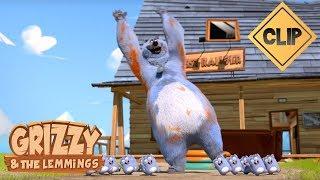 Grizzy tente de se faire adopter par les Lemmings - Grizzy & les Lemmings