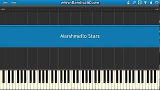 Marshmello Stars piano Synthesia