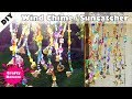 DIY wind chime with beads and bells - beaded suncatcher