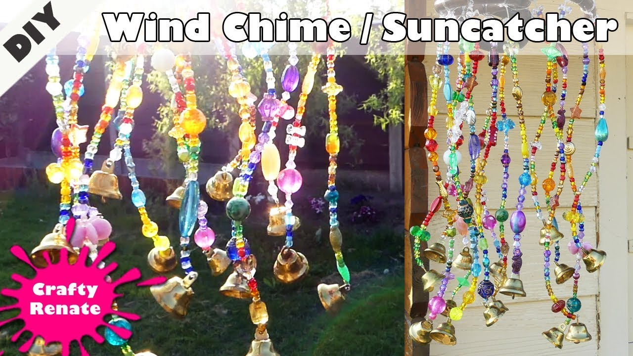 Diy Wind Chime With Beads And Bells Beaded Suncatcher Youtube