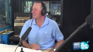 Prime Minister John Key sings