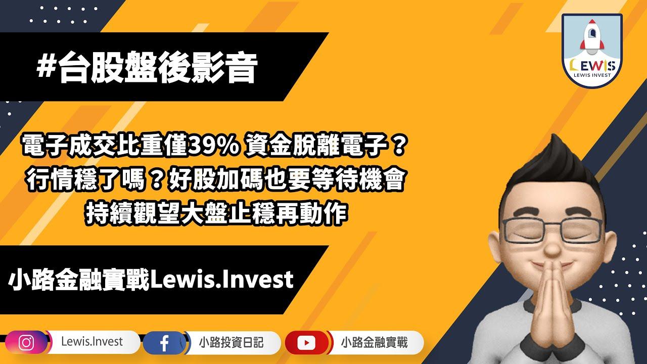 #小路投資日記 電子成交比重僅39% 危機還是轉機?