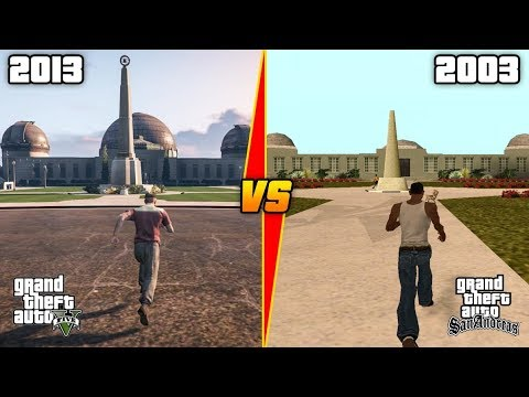 GTA 5 VS GTA SAN ANDREAS  ( GTA COMPARISON Ep.1)