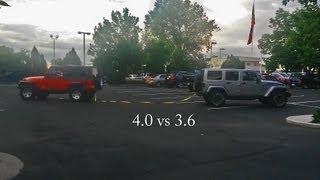 4.0 vs 3.6: Jeep Tug of War
