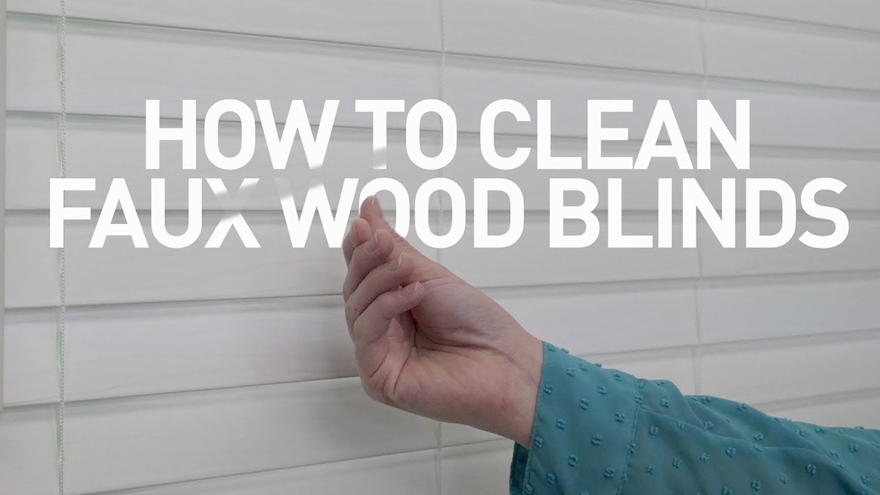 how to clean faux wood blinds youtube. Black Bedroom Furniture Sets. Home Design Ideas
