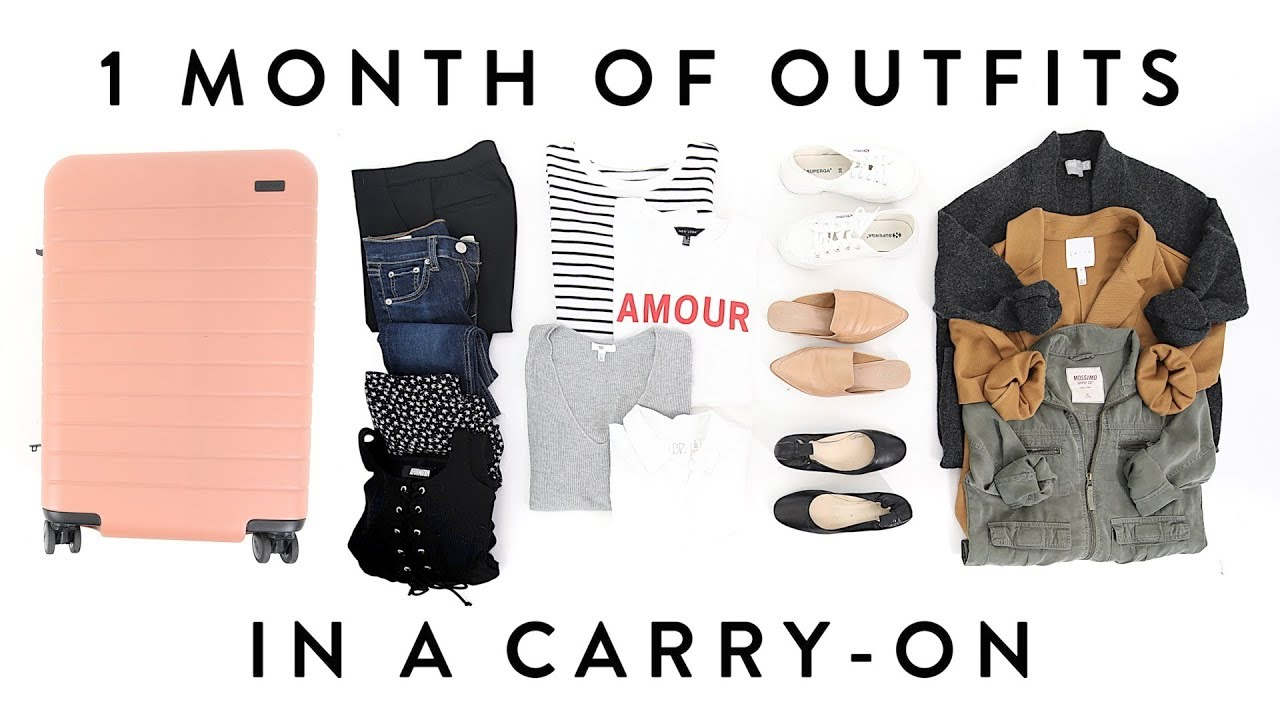 ca259ceda7 1 MONTH of OUTFITS in a Carry-On Suitcase
