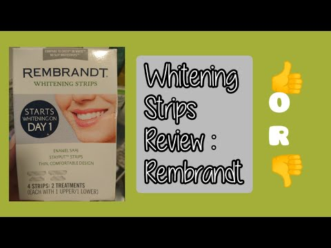 Rembrandt Whitening Strips Review 💚 Dollar Tree