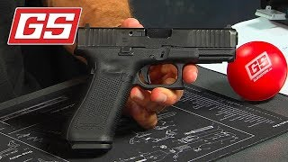 Lenny shows off the Glock 45, and yes… it's a 9mm!