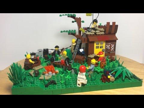 Лего Самоделка Зомби Апокалипсис! Лесной Лагерь Выживших!
