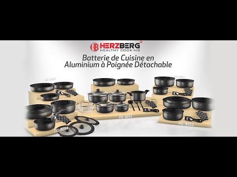 herzberg batterie casserole avec poignee amovible