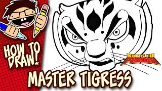 How to Draw MASTER TIGRESS (KUNG FU PANDA) Step-by-Step Tutorial