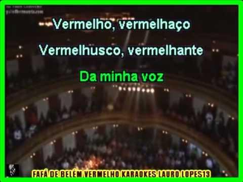 VIDEO KARAOKE FAFÁ DE BELEM VERMELHO