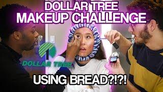 Dollar Tree Make-Up Challenge Using Bread?!