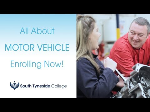 South Tyneside College   All About Our Motor Vehicle Courses