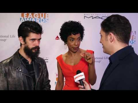 Ben Whishaw and Sophie Okonedo at the 82nd Drama League Awards Behind The Velvet Rope