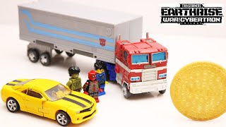 Transformers War for Cybertron: Optimus Prime, Bumblebee, Cookies LEGO In Real Life Robot Truck Toys
